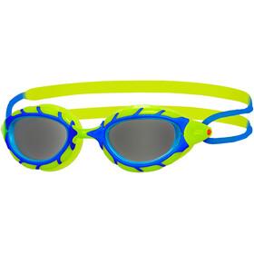 Zoggs Predator Goggles Kinderen, blue/lime/smoke